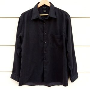 Cambridge Classics Black Gray Long Sleeve Shirt